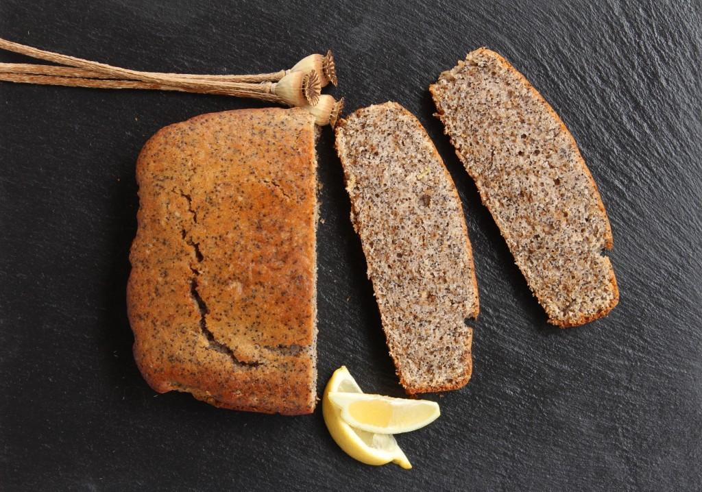 Veganer Mohn-Zitronen-Kuchen.